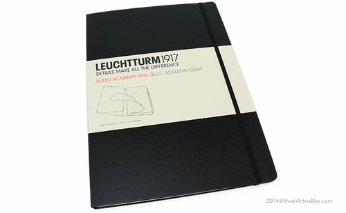 Leuchtturm 1917 Ruled Academy Pad - A4 Hard Cover, Black - Click to enlarge