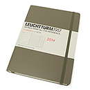 LEUCHTTURM 1917 Weekly Planner & Notebook - Large, Taupe, 2014