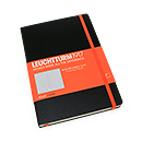 LEUCHTTURM 1917 Whitelines Link Notebook - Medium, Black, Lined