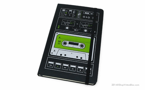 Moleskine Audio Cassette Large Notebook - Plain - Click to enlarge