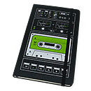 Moleskine Audio Cassette Large Notebook - Plain