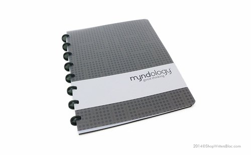 Myndology Luna Disc Bound Journal - College Ruled, Basalt - Click to enlarge