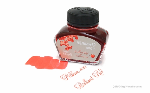 Pelikan 4001 Fountain Pen Ink, Brilliant Red - Click to enlarge