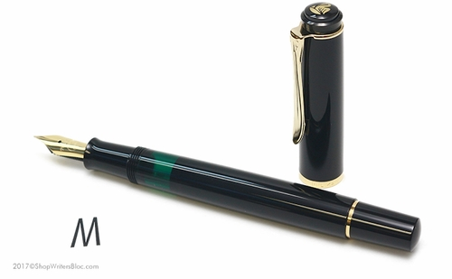 Pelikan Classic M200 Fountain Pen - Black, Medium Nib - Click to enlarge