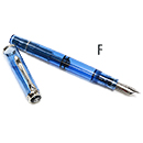 Pelikan Classic Special Edition M205 Demonstrator Fountain Pen - Blue, Fine Nib
