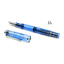 Pelikan Classic Special Edition M205 Demonstrator Fountain Pen - Blue, Medium Nib
