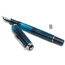 Pelikan Classic Special Edition M205 Fountain Pen - Aquamarine, Broad Nib