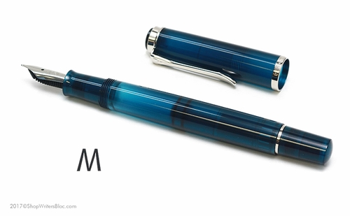 Pelikan Classic Special Edition M205 Fountain Pen - Aquamarine, Medium Nib - Click to enlarge