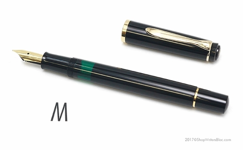 Pelikan Classic M150 Fountain Pen - Black, Medium Nib - Click to enlarge