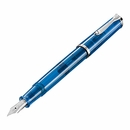 Pelikan Classic Special Edition M205 Demonstrator Fountain Pen - Blue, Extra Fine Nib