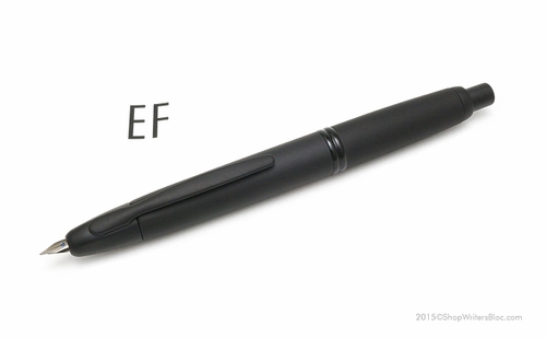 Pilot Vanishing Point Fountain Pen - Black Matte, Extra Fine Nib - Click to enlarge