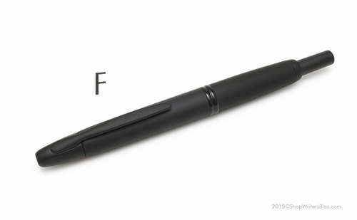Pilot Vanishing Point Fountain Pen - Black Matte, Fine Nib - Click to enlarge