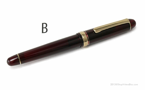 Platinum 3776 Century Fountain Pen - Bourgogne, Broad Nib - Click to enlarge