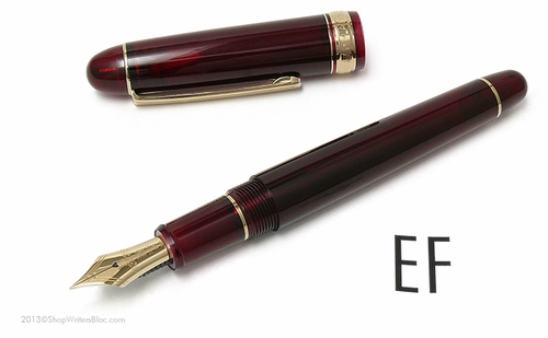 Platinum 3776 Century Fountain Pen - Bourgogne, Extra Fine Nib - Click to enlarge