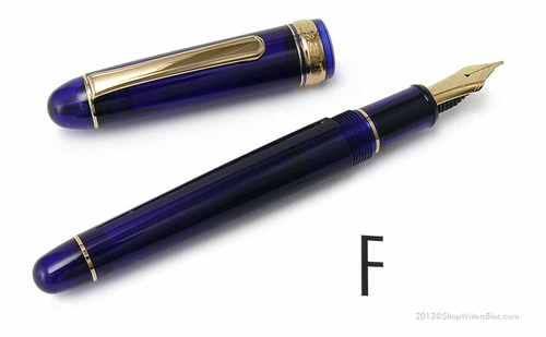 Platinum 3776 Century Fountain Pen - Chartres Blue, Fine Nib - Click to enlarge