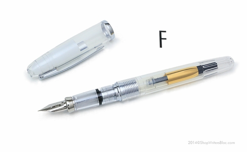 Platinum Cool Fountain Pen - Crystal Clear, Fine Nib - Click to enlarge