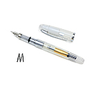 Platinum Cool Fountain Pen - Crystal Clear, Medium Nib