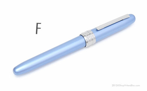 Platinum Plaisir Fountain Pen - Frosty Blue, Fine Nib - Click to enlarge