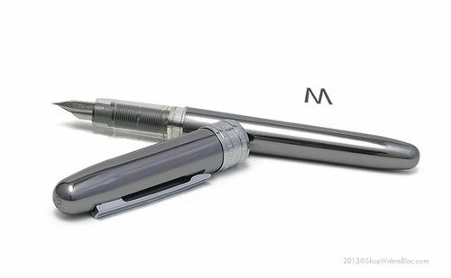Platinum Plaisir Fountain Pen - Gunmetal, Medium Nib - Click to enlarge