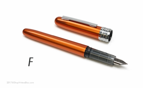 Platinum Plaisir Fountain Pen - Nova Orange, Fine Nib - Click to enlarge