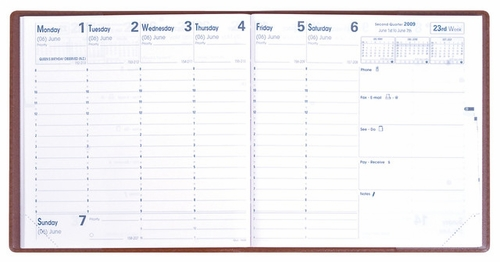 Quo Vadis Executive Desk Weekly Planner 2016<br>Club Cover, Lilac