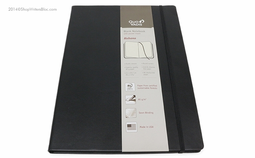 Quo Vadis Habana Journal A4 Size, Black - Blank, Ivory Paper - Click to enlarge