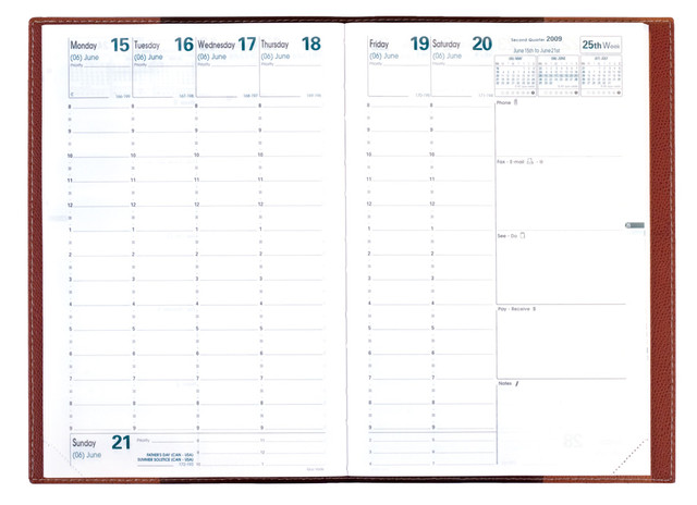 Vadis Minister Compact Weekly Desk Planner 2017<br>Club, Red