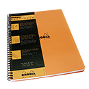 Rhodia Side Spiral Notebook - A4 Large, Orange, Graph with Margin