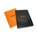 Rhodia Side-Stapled Notebook - Medium, Black, Ruled