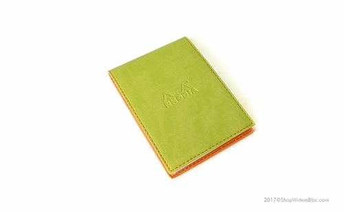 Rhodiarama Pad Holder No. 12 with Notepad - Anise Green - Click to enlarge