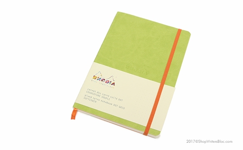 Rhodiarama Soft Cover Notebook - Medium, Anise Green, Dot Grid - Click to enlarge