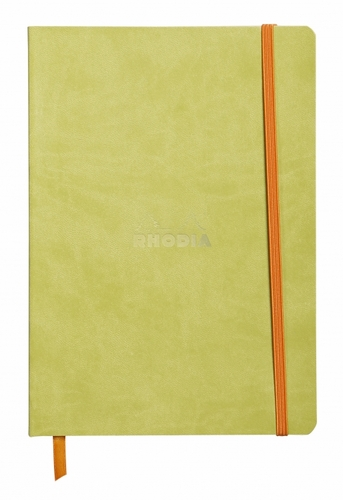 Rhodiarama Soft Cover Notebook - Medium, Anise Green, Lined - Click to enlarge