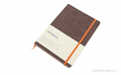 Rhodiarama Soft Cover Notebook - Medium, Chocolate, Dot Grid - Click to enlarge