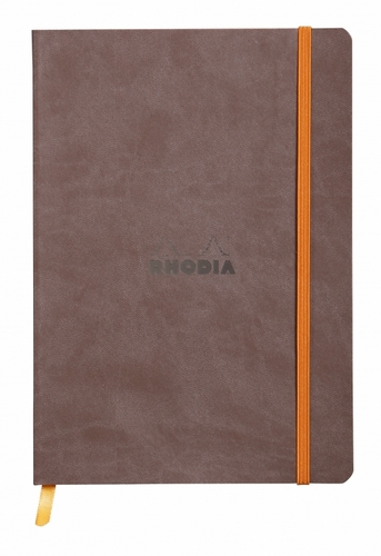 Rhodiarama Soft Cover Notebook - Medium, Chocolate, Lined - Click to enlarge