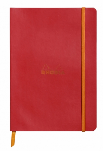 Rhodiarama Soft Cover Notebook - Medium, Poppy, Lined - Click to enlarge
