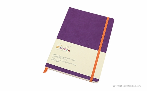Rhodiarama Soft Cover Notebook - Medium, Purple, Dot Grid - Click to enlarge