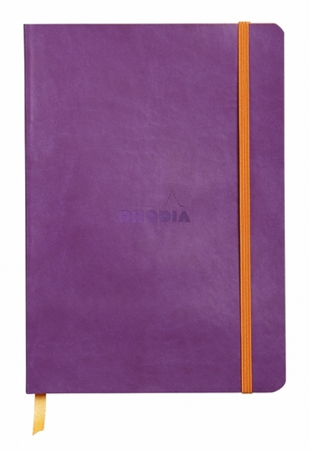 Rhodiarama Soft Cover Notebook - Medium, Purple, Lined - Click to enlarge