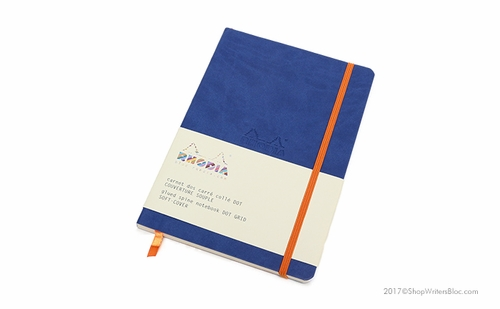 Rhodiarama Soft Cover Notebook - Medium, Sapphire, Dot Grid - Click to enlarge