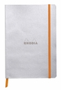 Rhodiarama Soft Cover Notebook - Medium, Silver, Lined