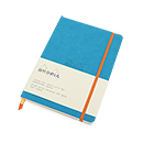 Rhodiarama Soft Cover Notebook - Medium, Turquoise, Dot Grid