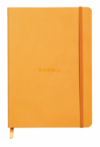 Rhodiarama Soft Cover Notebook - Small, Orange, Dot Grid