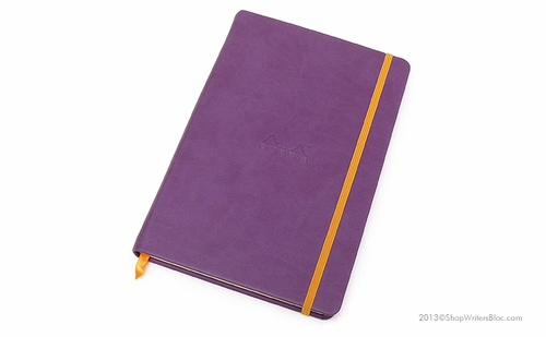 Rhodiarama Webnotebook - A5 Medium, Purple, Lined - Click to enlarge