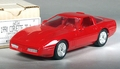 1990 Corvette ZR-1 Coupe Promo, 1990 on Plate, Bright Red, with Box