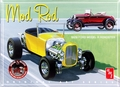 """AMT 1929 Ford Model A Roadster """"Mod Rod"""" Double Kit, Build Two Complete Cars (White)"""