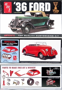 AMT 1936 Ford Stock 3-Window Coupe, Chopped 3-Window Coupe, or Roadster