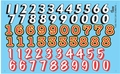 Gofer Race Car Numbers Decal Sheet