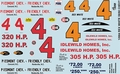 Gofer Rex White � and � Chevy Hardtop Piedmont and Friendly Chevrolet and Idlewild Homes Decal Sheet