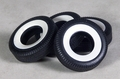 Moebius Set of Four Wide Whitewall 1/25 Scale Tires for Vintage Cars, Customs or Hot Rods