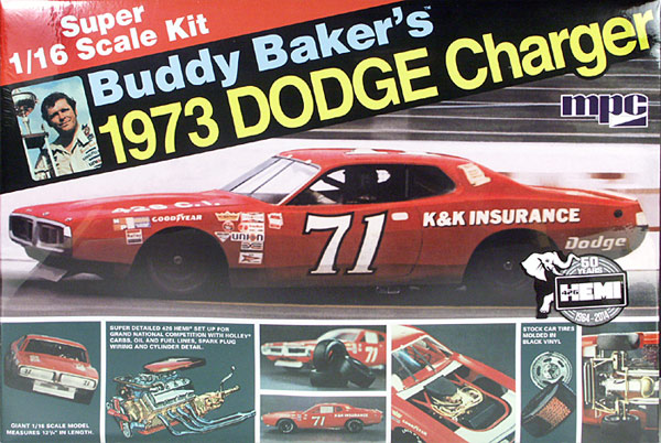 1973 DODGE CHARGER BUDDY BAKER NASCAR 1/16 MPC Mpc-buddy-baker-71-k-k-insurance-73-dodge-charger-big-1-16-scale-3