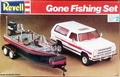 "Revell 1979 Dodge Ramcharger with Ranger 363V Comanche Bass Boat with Trailer and Yamaha V6 Outboard Motor ""Gone Fishing Set"""